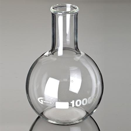 Baloane de sticla cu fund plat si gat ingust