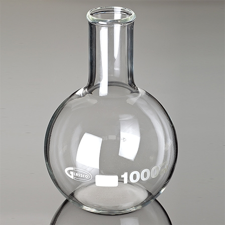 balon de sticla cu fund plat si gat ingust